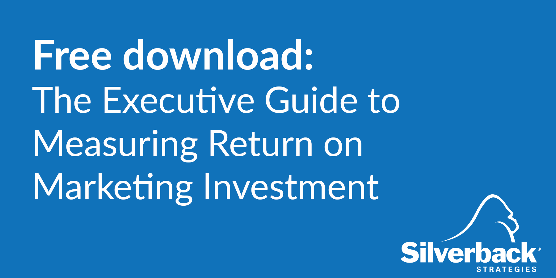 The Executive Guide to Measuring Return on Marketing Investment